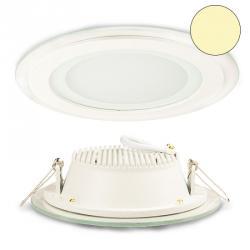 LED Glas Downlight 12W, 120°, inkl. Driver, warmweiss, 9009377018343